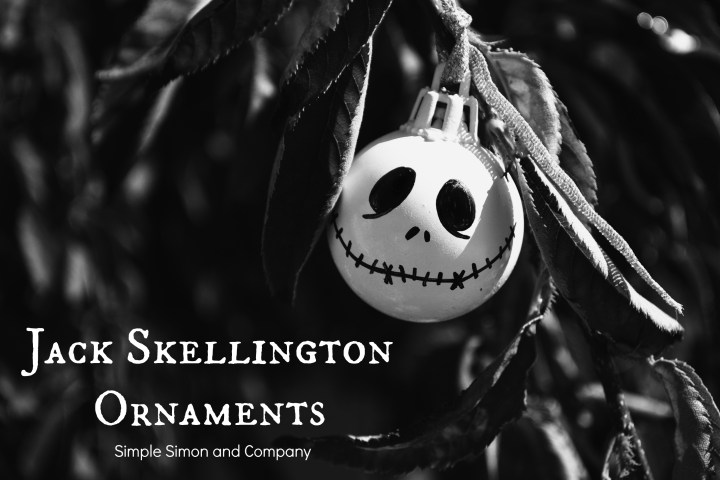 Jack Skellington Ornaments Black and White