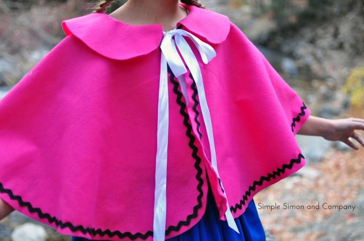 anna cape costume