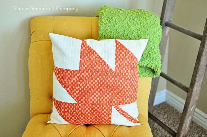 modern maple fall pillow tutorial