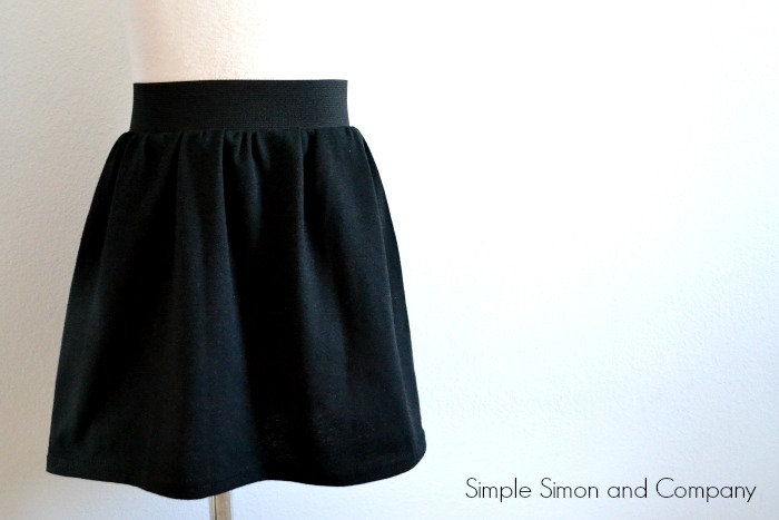 Exposed Elastic Waistband Skirt