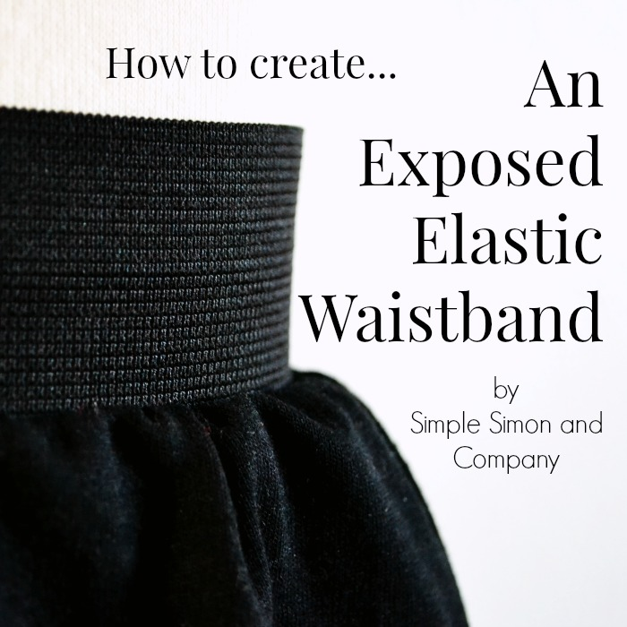 Exposed Elastic Waistband