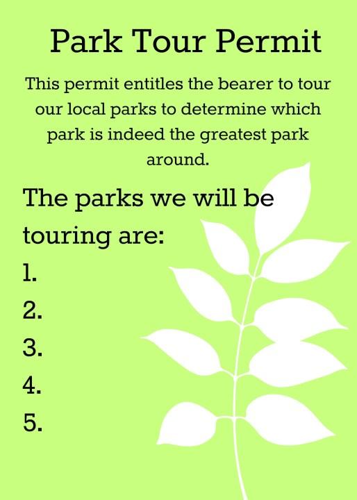 Park Tour Permit