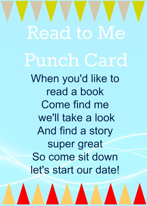 Read to Me Punch Card