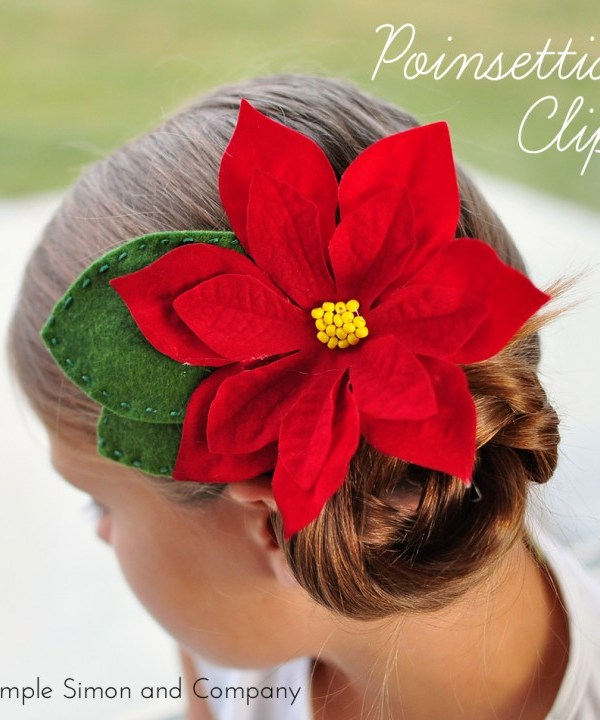 Poinsettia Hair Clip DIY