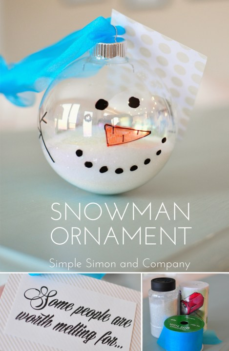 title collage snowman ornament