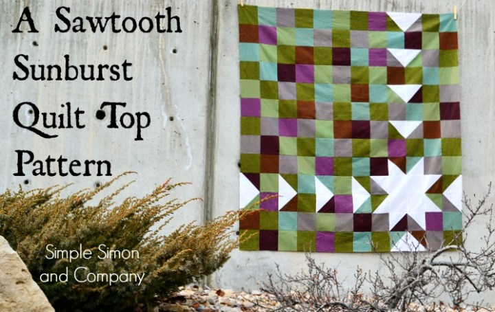 Sawtooth Sunburst Quilt Top Pattern