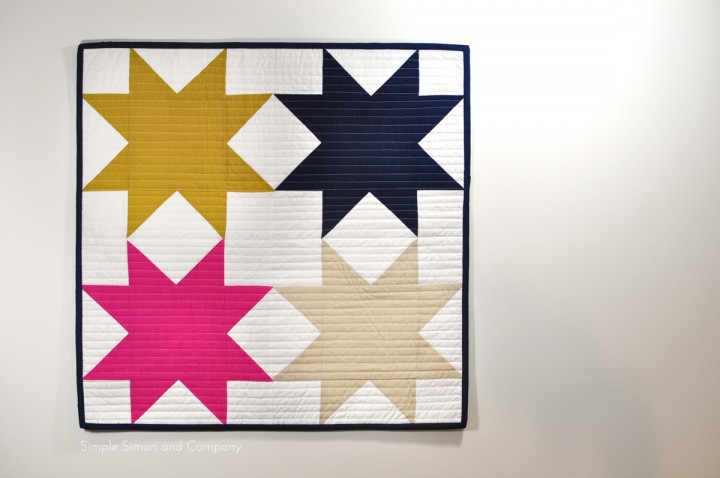 The Sawtooth Star Mini Quilt