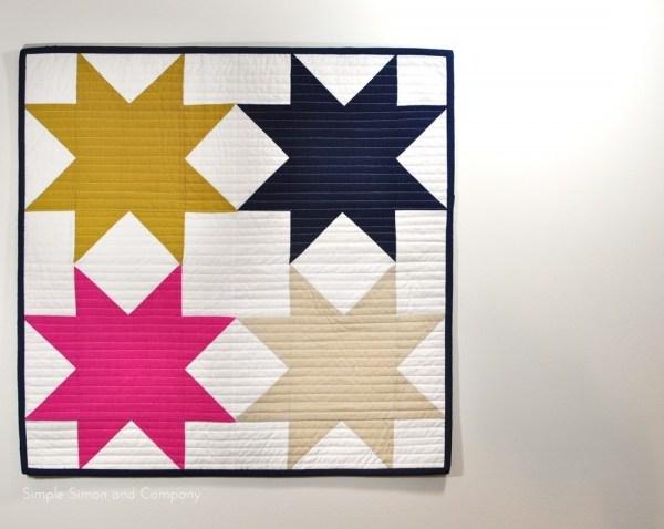 The Sawtooth Star Mini Quilt