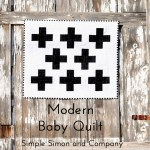 Black and White Modern Baby Quilt