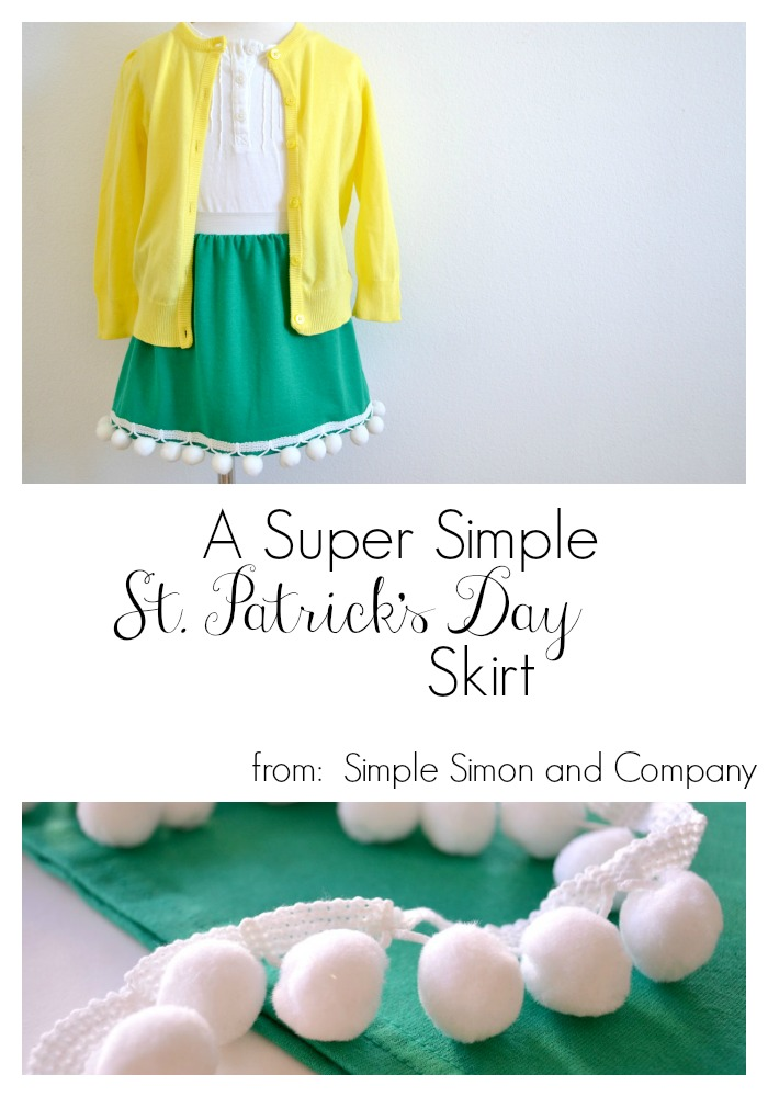 A Super Simple St Patrick Day Skirt