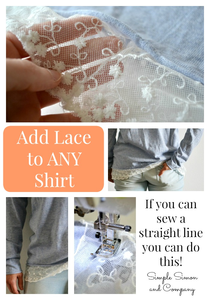 Add Lace to Any Hem Collage