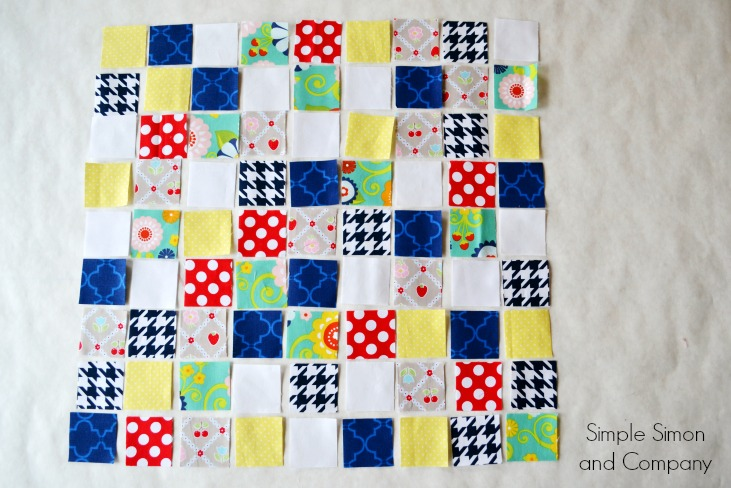 Random Patchwork Squares Quilt