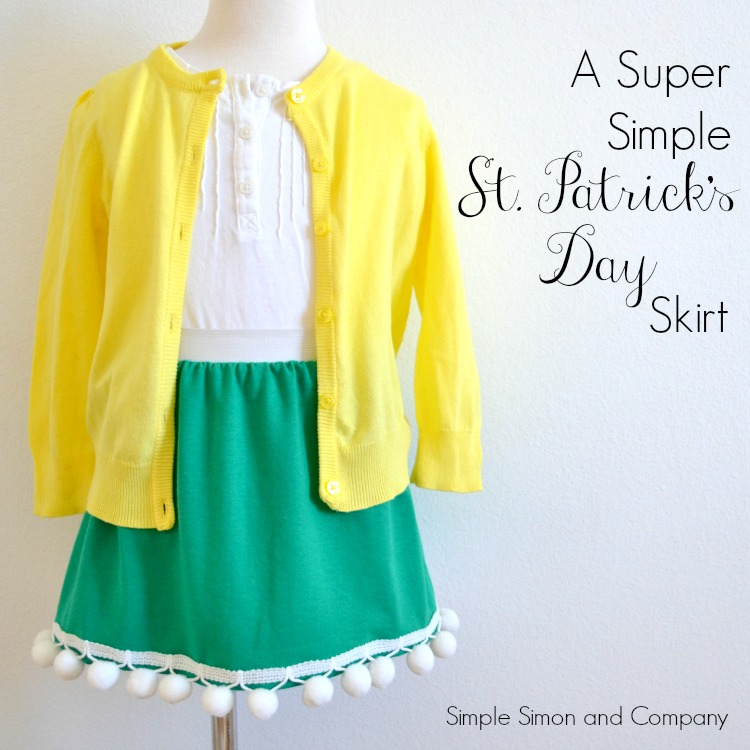 Super Simple St. Patrick's Day Skirt Title
