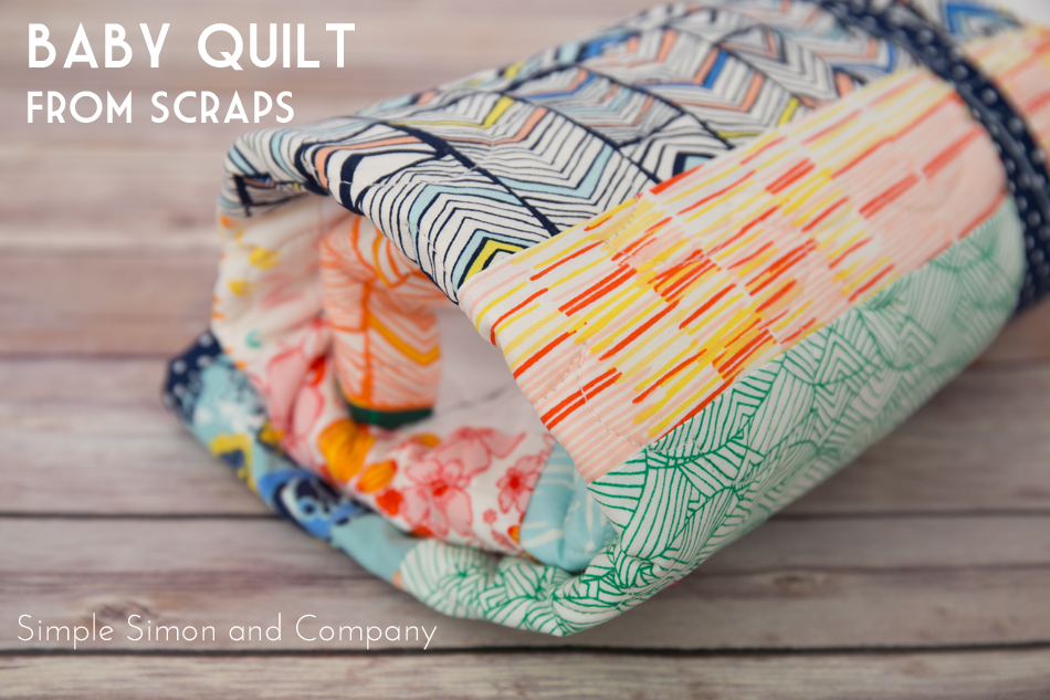 baby quilt from scraps1