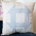 A Churndash Quilt Block–the easy way.