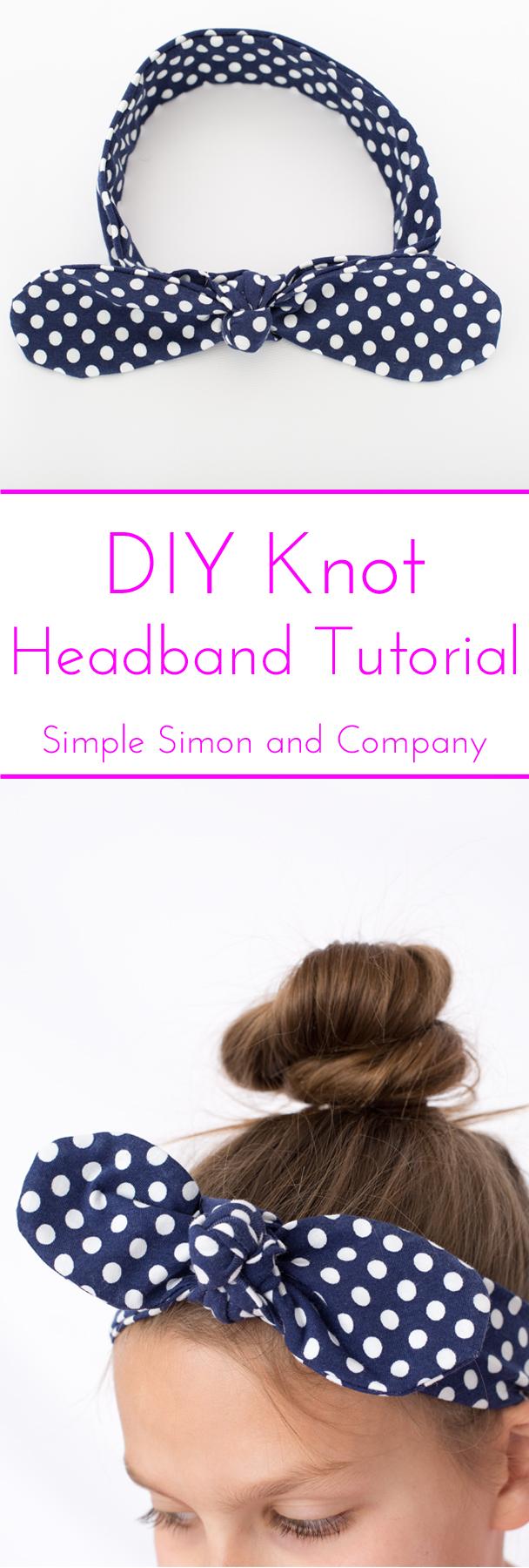 DIY knot Headband Tutorial Simple Simon