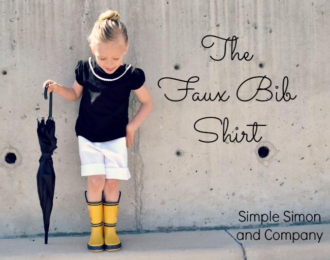 Faux Bib Shirt Tutorial Title