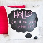 Chalkcloth pillow