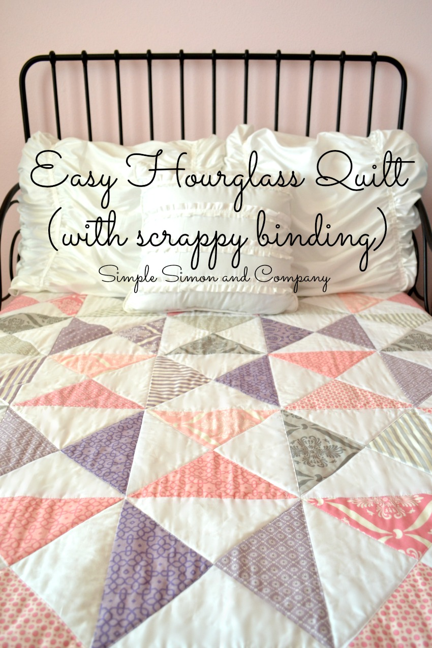 Hourglass Quilt with Scrappy Binding