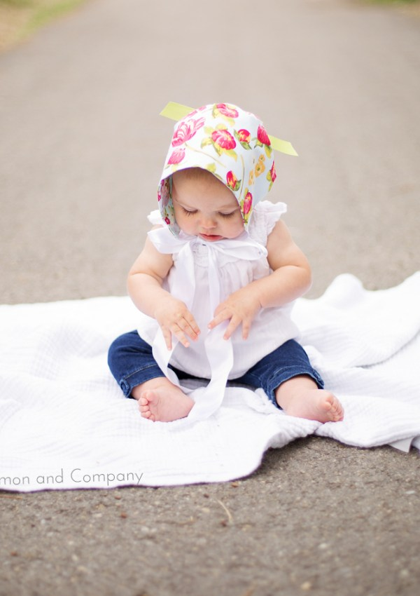 Make a Baby Bonnet from Two Fat Quarters