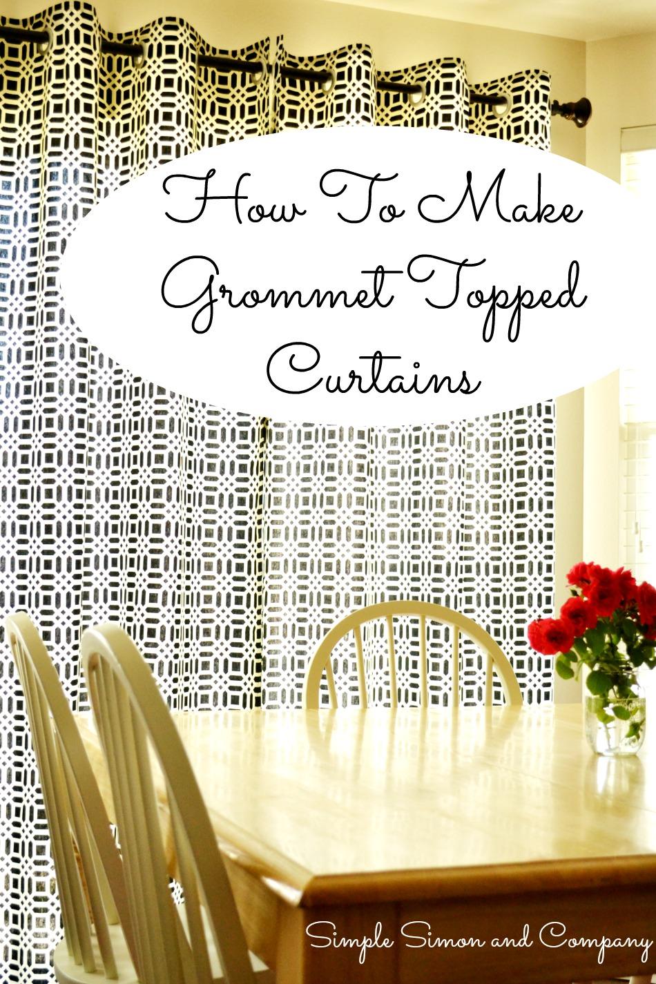 Grommet Top Curtains Tutorial Title