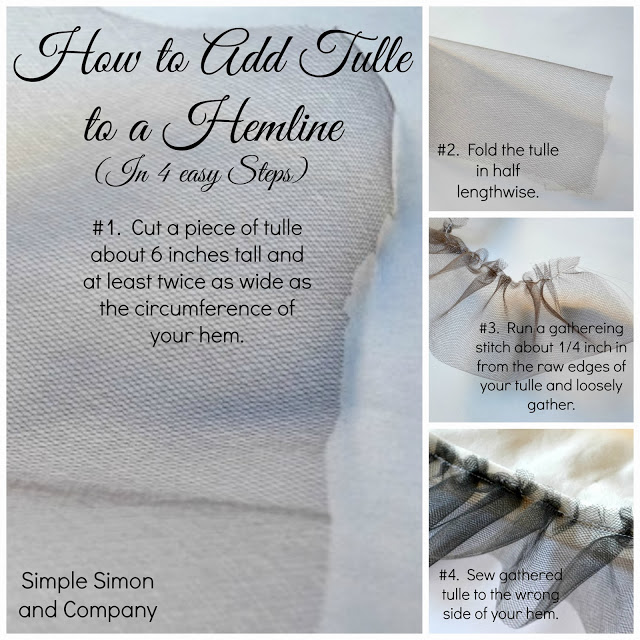 how to add tulle to a skirt