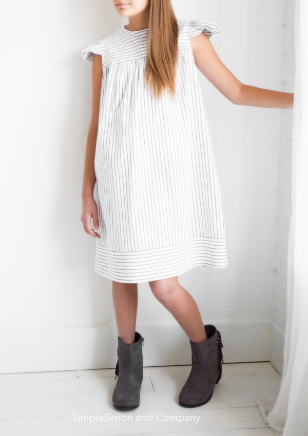 Back to School Striped Dress