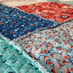 Ragged Log Cabin Baby Quilt Tutorial