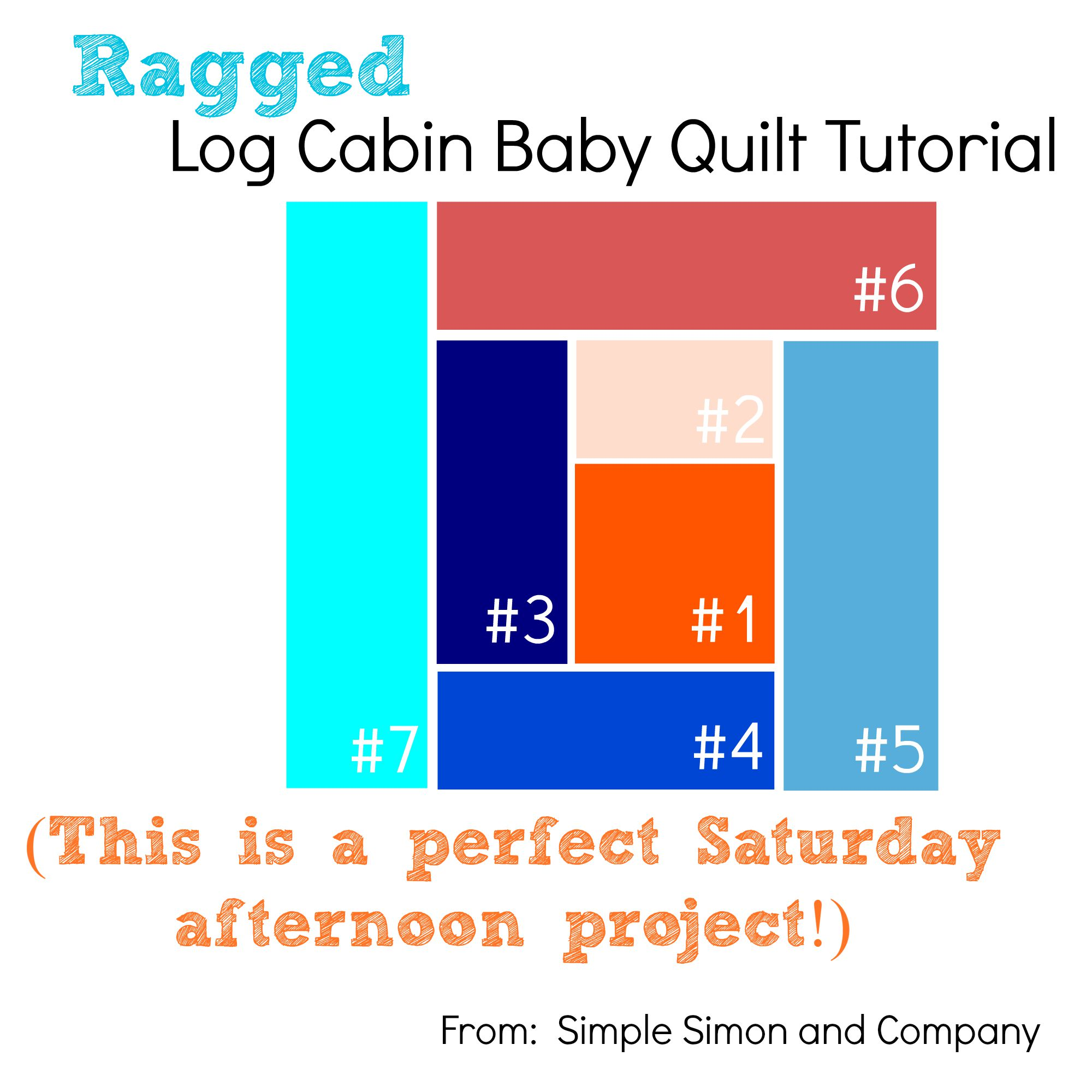 Ragged Log Cabin Baby Quilt Tutorial - Simple Simon and Company : log cabin baby quilt pattern - Adamdwight.com