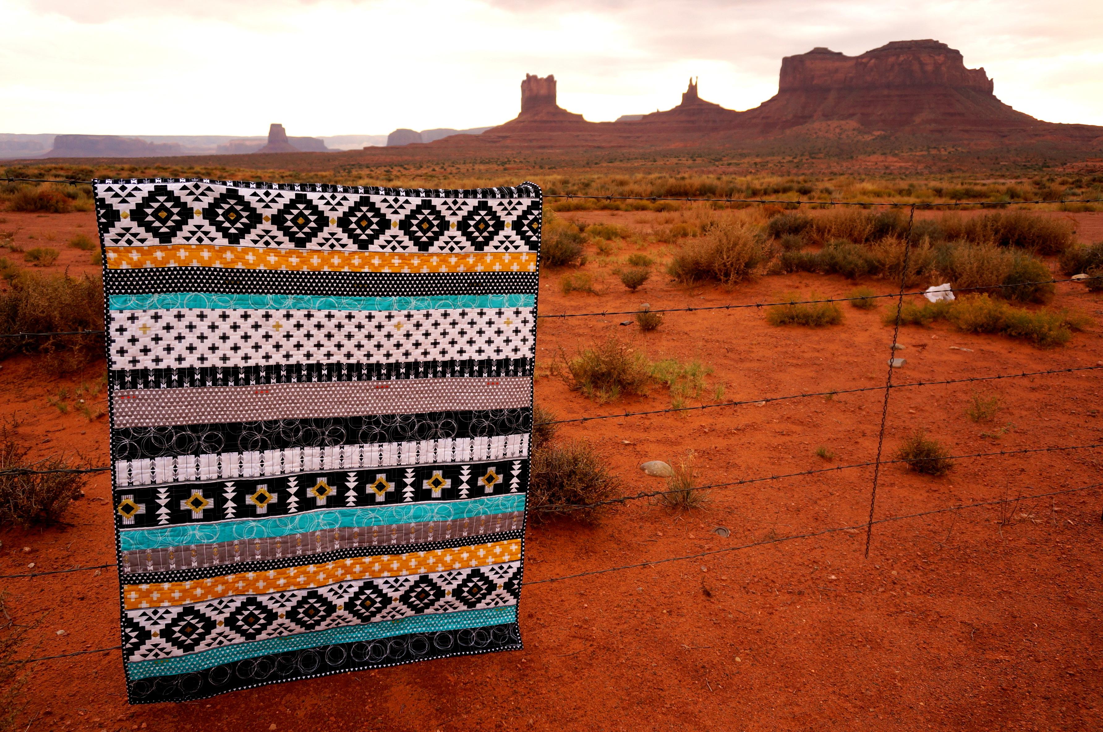 Four Corners southwest strip quilt tutorial