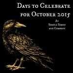 October 2015 Holidays