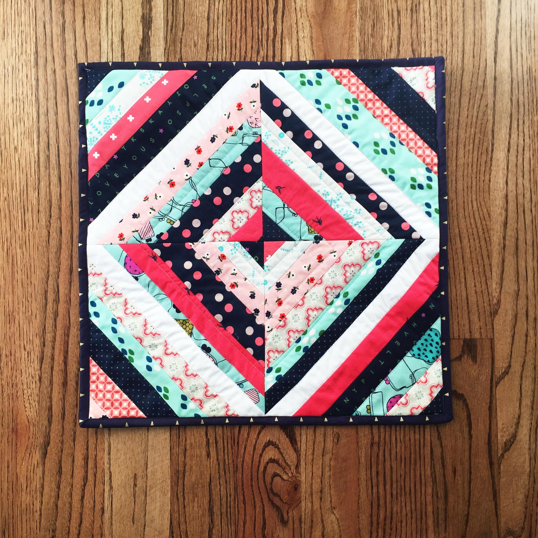String Block Mini Quilt Tutorial