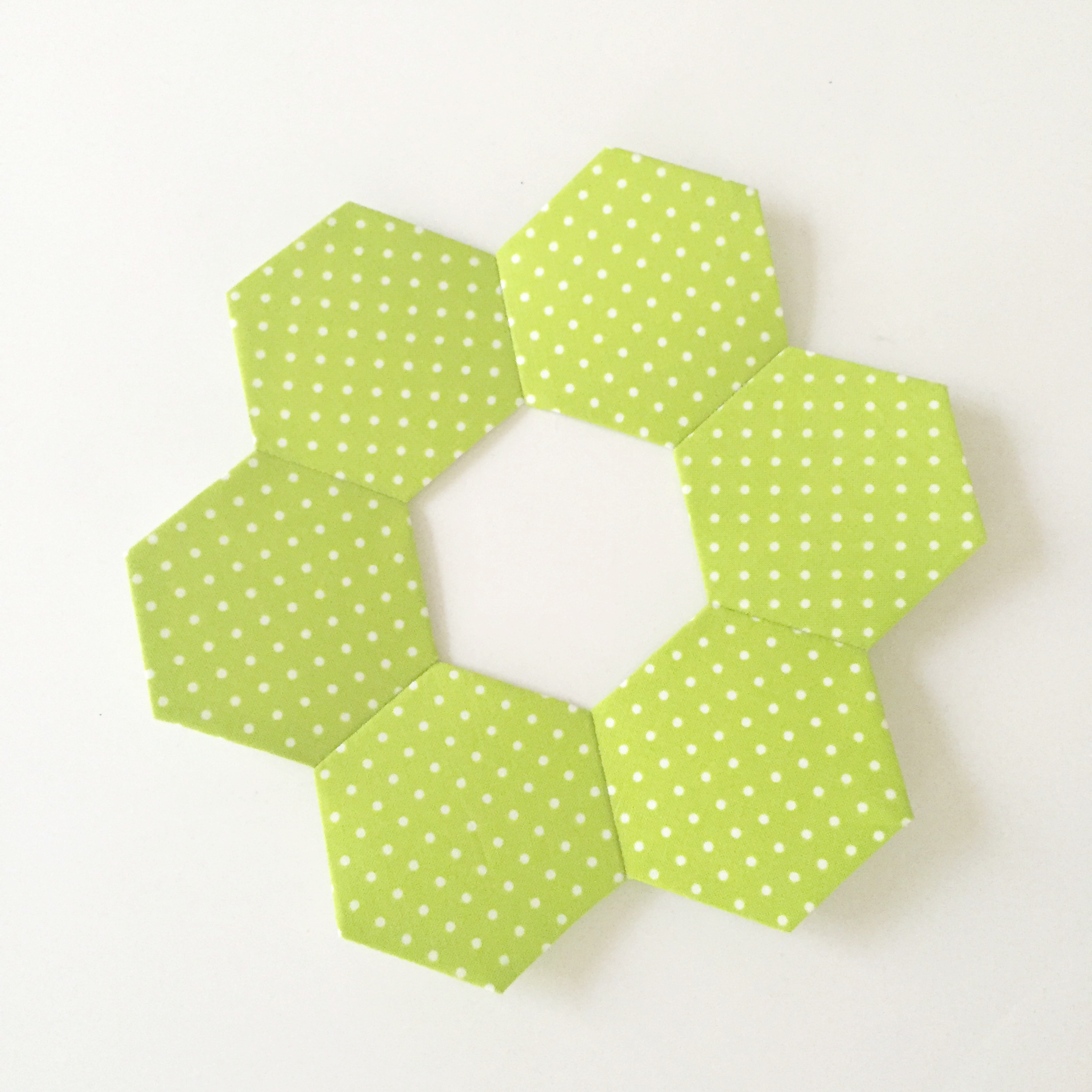 hexagon wreath tutorial