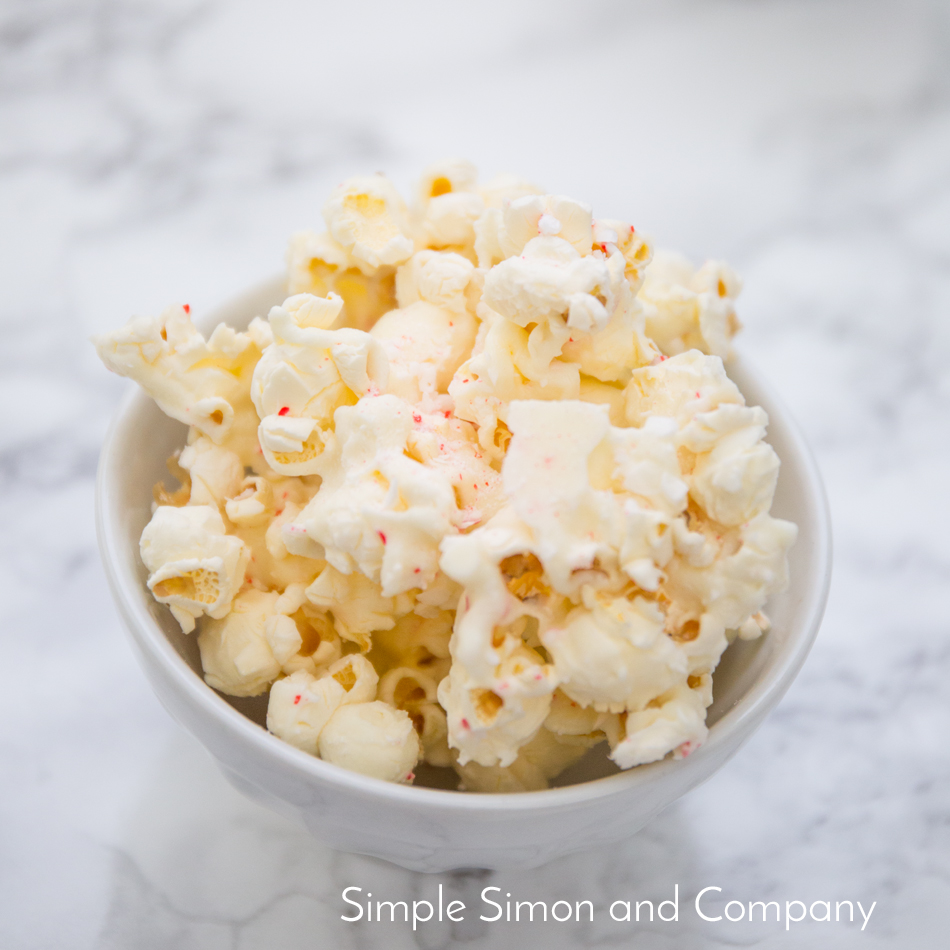 candy cane popcorn recipe title