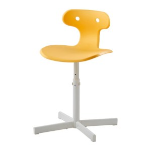 IKEA molte-desk-chair-yellow