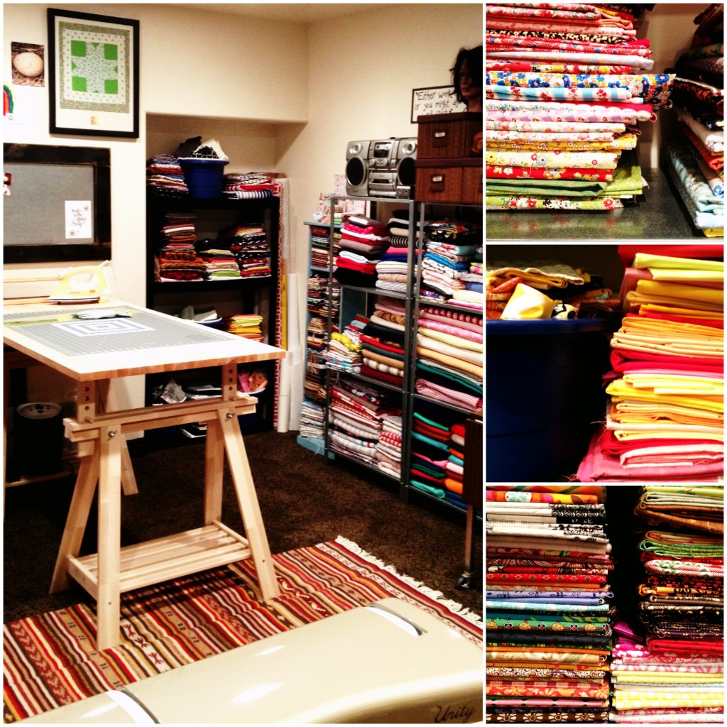 Sewing Room Cutting Table Collage