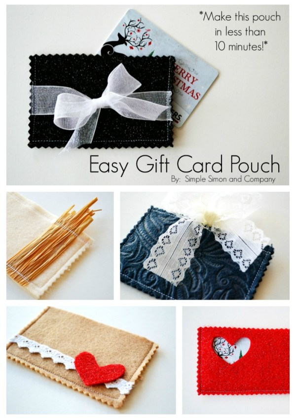 Easy Gift Card Pouch Tutorial