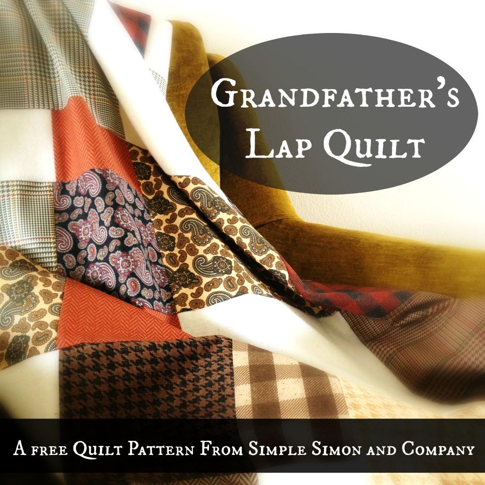 Grandfathers Lap Quilt Tutorial