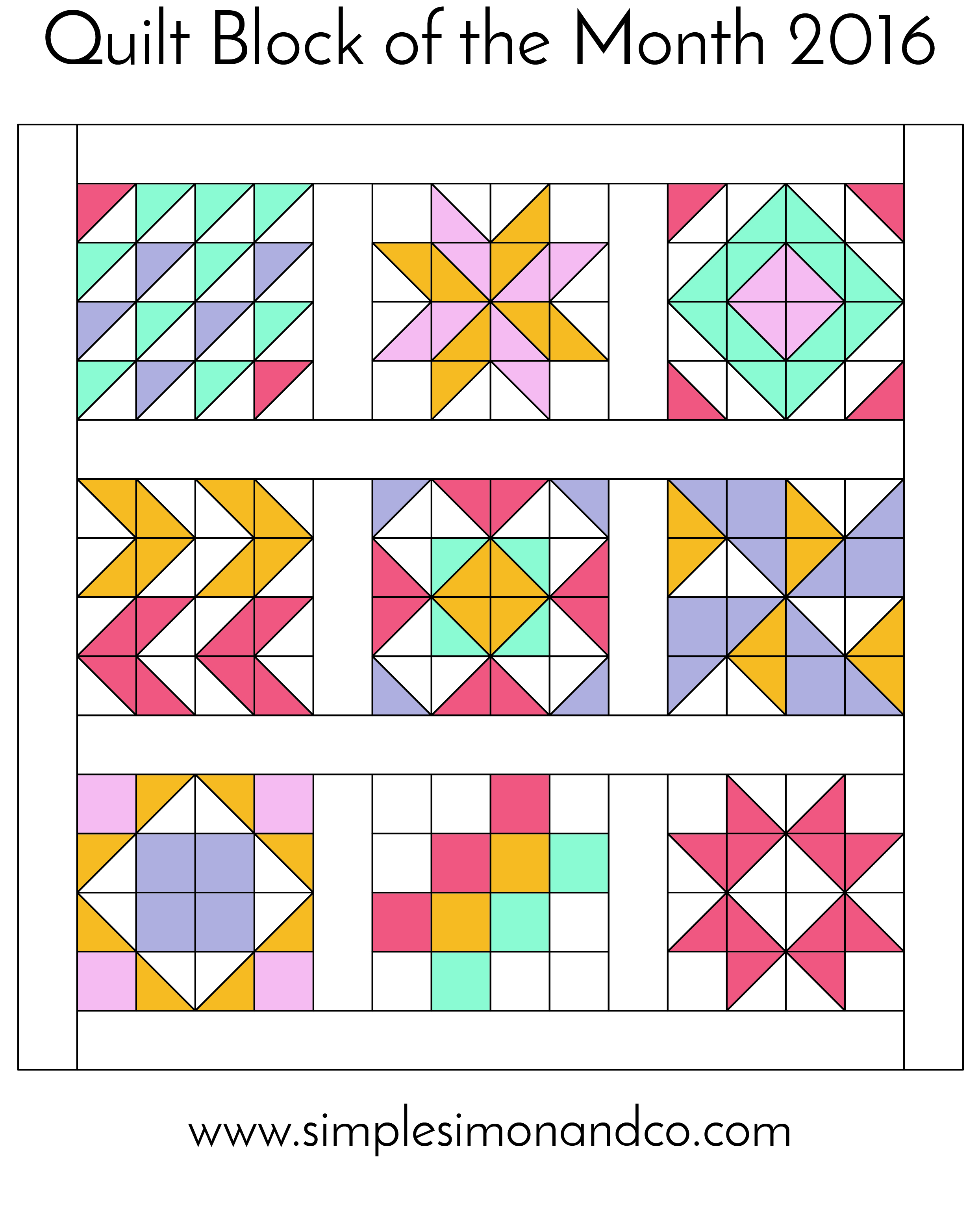 Quilt Block of the Month 2016