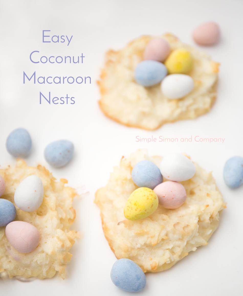 coconut macaroon cookie nests