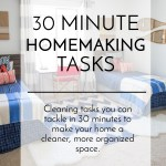 30 Minute Homemaking Tasks