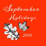 September 2016 Holidays