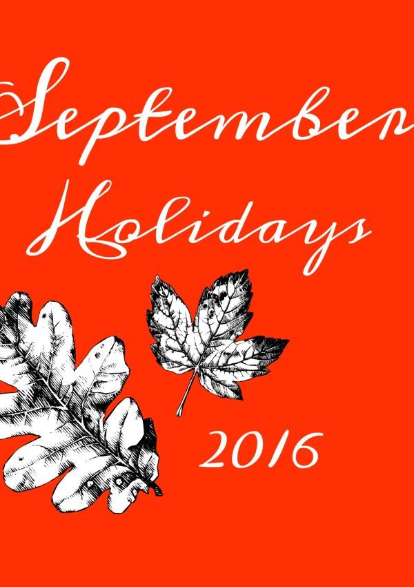 September 2016 Holidays