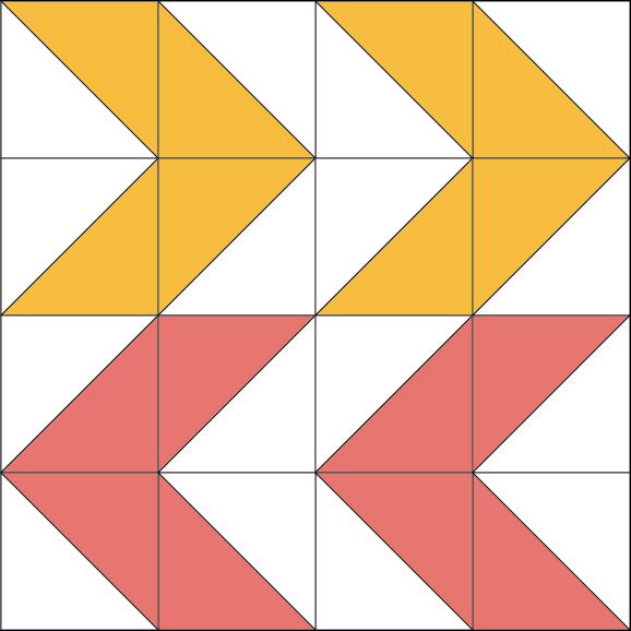 Double Arrows Quilt Block