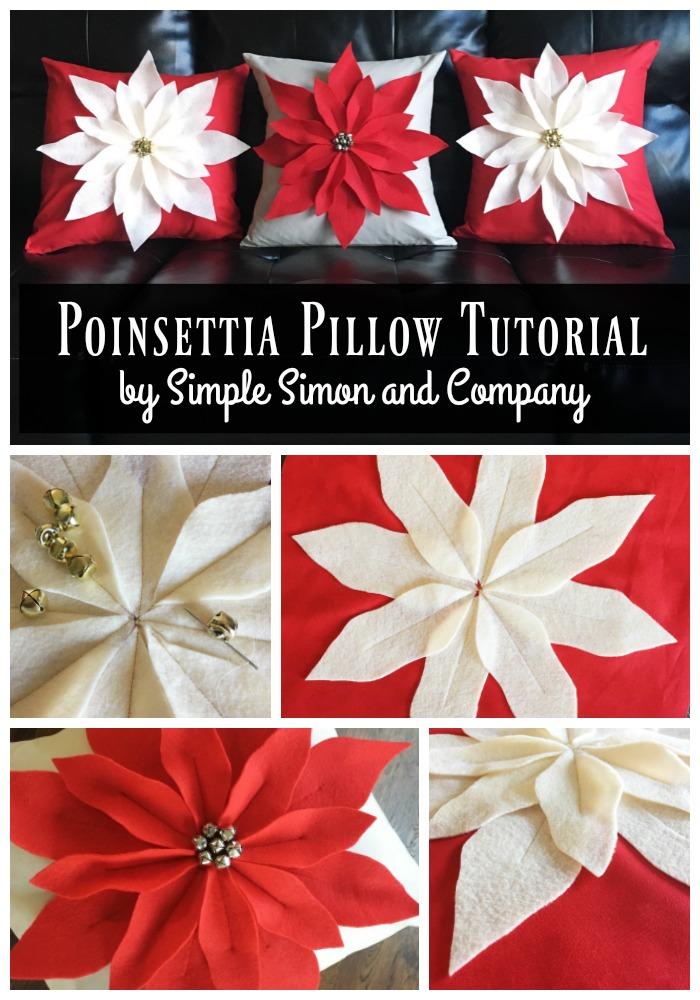 Poinsettia Pillow Tutorial And Pattern Simple Simon