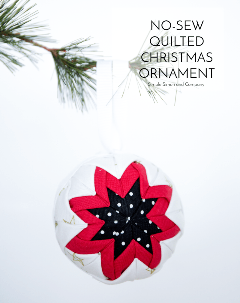 No Sew Quilted Christmas Ornaments Title