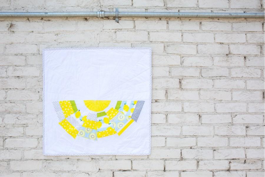modern dresden mini quilt