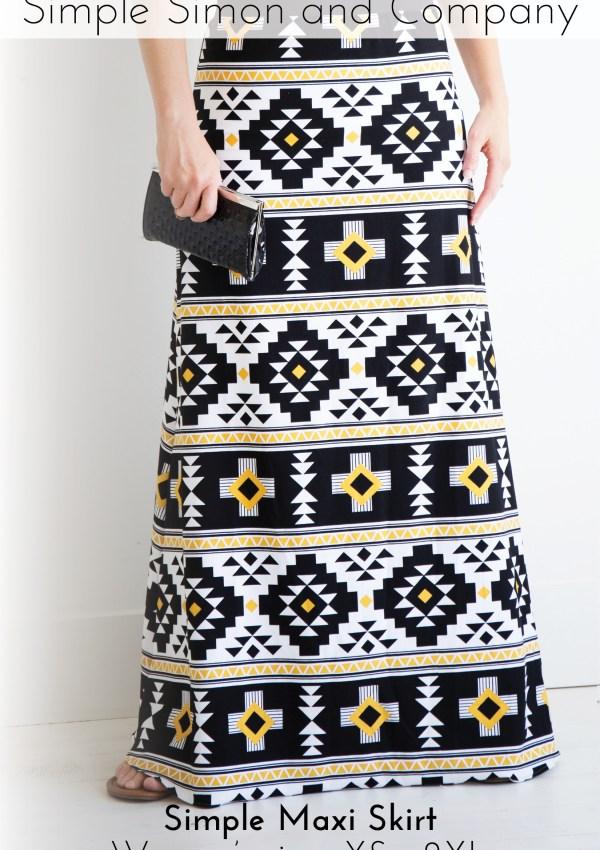 Maxi Skirt PDF Pattern and Tutorial