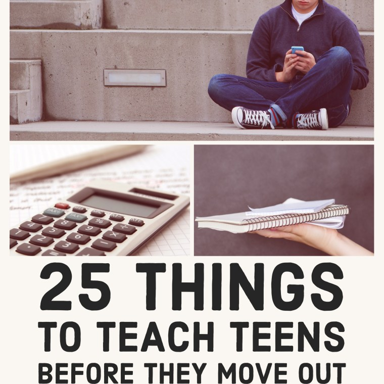 25 Things to Teach Teens Before They Move Out