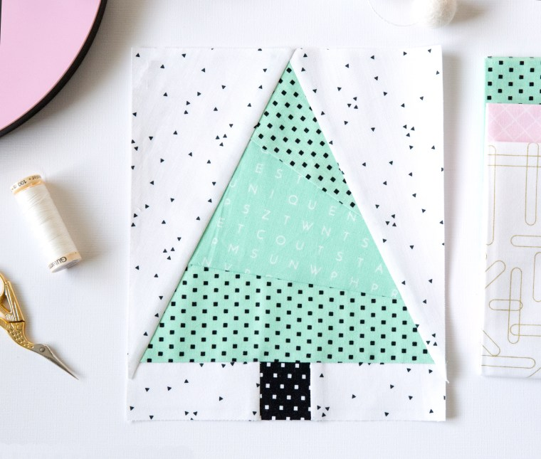 Christmas Tree Paper Pieced Quilt Blocks